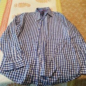 Men's long sleeve buttondown shirt L Tall